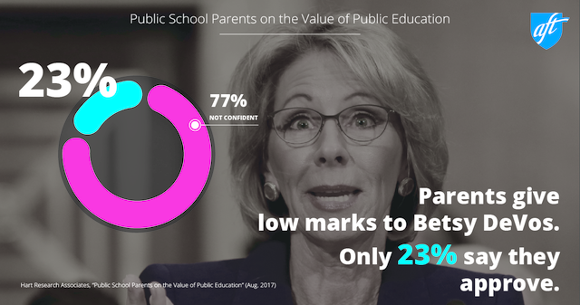 Parent poll DeVos opinions